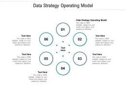 Data Strategy Operating Model Ppt Powerpoint Presentation Model Samples Cpb