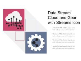 Data Stream Cloud And Gear With Streams Icon