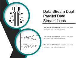 Data Stream Dual Parallel Data Stream Icons