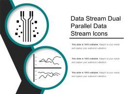 Data Stream Dual Parallel Data Stream Icons