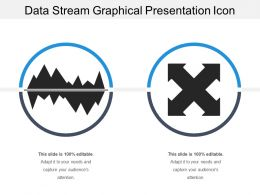 Data Stream Graphical Presentation Icon