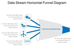 Data Stream Horizontal Funnel Diagram