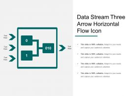 Data Stream Three Arrow Horizontal Flow Icon