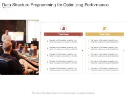 Data Structure Programming For Optimizing Performance Infographic Template