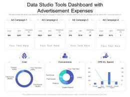 Data Studio Tools Dashboard With Advertisement Expenses