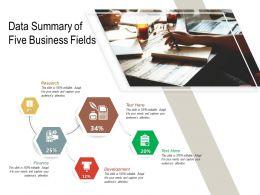 Data Summary Of Five Business Fields