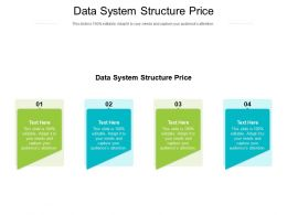 Data System Structure Price Ppt Powerpoint Presentation Inspiration Summary Cpb