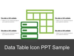 Data Table Icon Ppt Sample