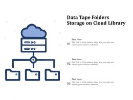 Data Tape Folders Storage On Cloud Library