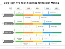 Data Team Five Years Roadmap For Decision Making