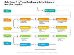 Data Team Five Years Roadmap With Statistics And Machine Learning