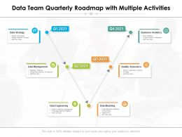 Data Team Quarterly Roadmap With Multiple Activities