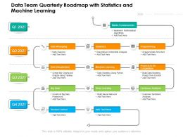 Data Team Quarterly Roadmap With Statistics And Machine Learning