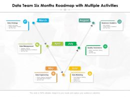 Data Team Six Months Roadmap With Multiple Activities