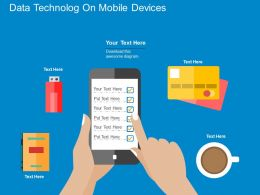 Data Technology On Mobile Devices Flat Powerpoint Design