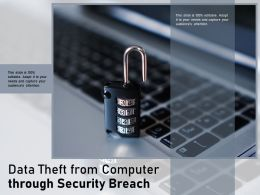 Data Theft From Computer Through Security Breach