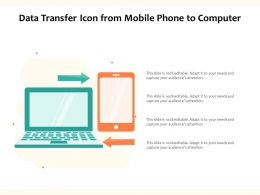 Data Transfer Icon From Mobile Phone To Computer
