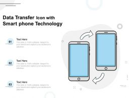 Data Transfer Icon With Smart Phone Technology