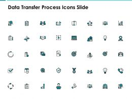 Data Transfer Process Icons Slide Arrow Ppt Powerpoint Presentation Show Demonstration