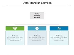 Data Transfer Services Ppt Powerpoint Presentation Professional Clipart Cpb