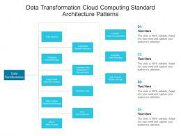 Data Transformation Cloud Computing Standard Architecture Patterns Ppt Presentation Diagram