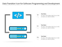 Data Transition Icon For Software Programming And Development