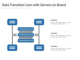 Data Transition Icon With Servers On Board