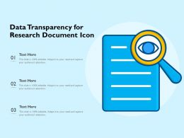 Data Transparency For Research Document Icon