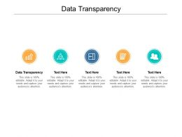 Data Transparency Ppt Powerpoint Presentation Show Outfit Cpb
