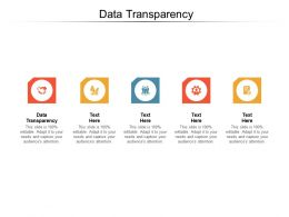 Data Transparency Ppt Powerpoint Presentation Summary Styles Cpb