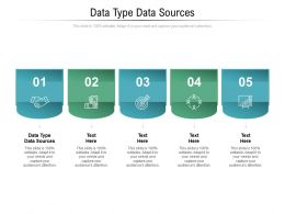 Data Type Data Sources Ppt Powerpoint Presentation Infographics Graphics Tutorials Cpb