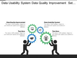 Data Usability System Data Quality Improvement Set Strategies