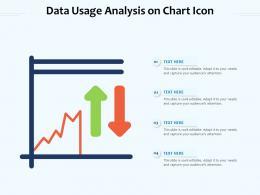 Data Usage Analysis On Chart Icon