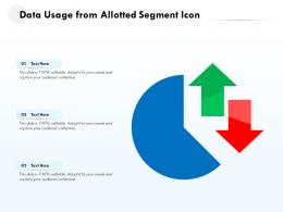 Data Usage From Allotted Segment Icon
