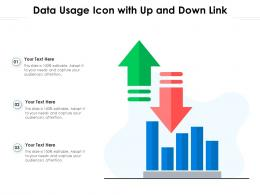 Data Usage Icon With Up And Down Link