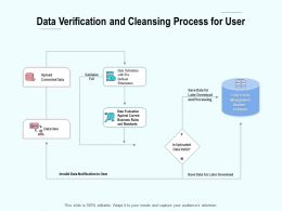 Data Verification And Cleansing Process For User