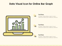 Data Visual Icon For Online Bar Graph