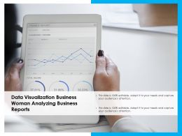 Data Visualization Business Woman Analyzing Business Reports
