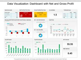 Data Visualization Dashboard With Net And Gross Profit