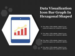 Data Visualization Icon Bar Graph In Hexagonal Shaped