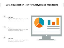 Data Visualization Icon For Analysis And Monitoring