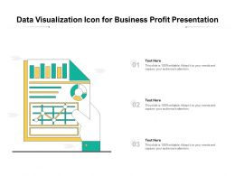 Data Visualization Icon For Business Profit Presentation