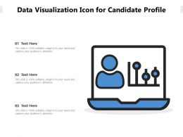 Data Visualization Icon For Candidate Profile