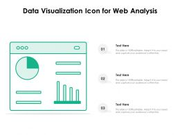 Data Visualization Icon For Web Analysis