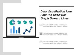 Data Visualization Icon Four Pie Chart Bar Graph Upward Lines