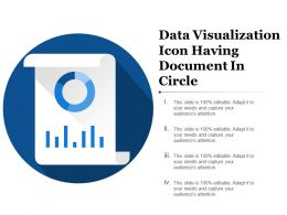 Data Visualization Icon Having Document In Circle