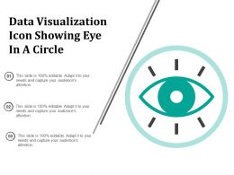 Data Visualization Icon Showing Eye In A Circle