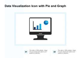 Data Visualization Icon With Pie And Graph