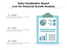 Data Visualization Report Icon For Financial Growth Analysis