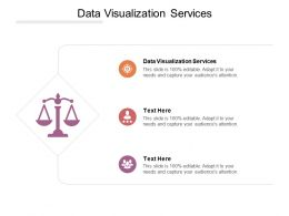 Data Visualization Services Ppt Powerpoint Presentation Slides Demonstration Cpb